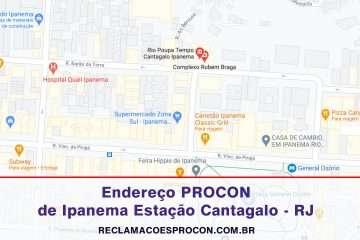 Posto de Atendimento do PROCON em Ipanema Estação Cantagalo – RJ